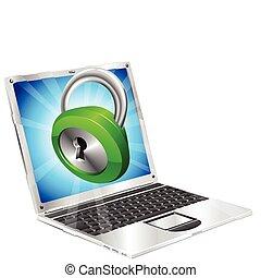 Icon-Laptop-Konzept abschließen.