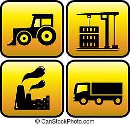 Icon mit Industrieobjekten.