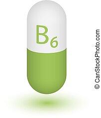 Icon-Tabletten von Vitamin B6.