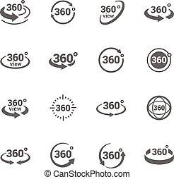 Icons 360 Grad Sicht.