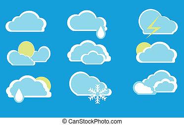 Icons in Form von Wolken.