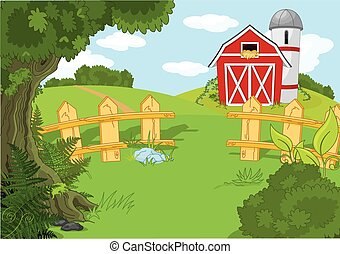 Idyllische Farmlandschaft.