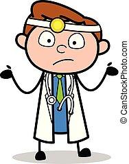 Ignorant - Professionelle Cartoon Doktor Vektor Illustration.