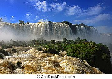 Iguazu fällt, eines der sieben Wunder der Natur, Devils Throat, Garganta del Diablo