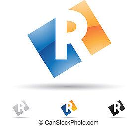 Ikone abbrechen für Buchstaben R