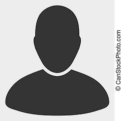 ikone, benutzer, raster, abbildung
