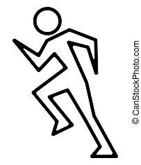 Ikone des Running Man.