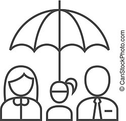 Ikone - Familienschirm