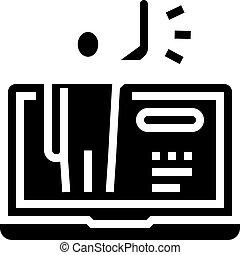 ikone, menschliche , glyph, vektor, gruß, abbildung