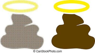 ikone, pixel, scheiße, halftone, heilig