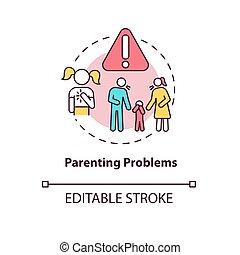 ikone, problem, parenting, begriff