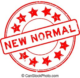 ikone, runder , normal, wort, neu , stern, gummi, hintergrund, grunge, siegel, weißes, briefmarke, rotes