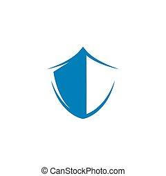 ikone, schutzschirm, symbol, schablone, vektor, abbildung