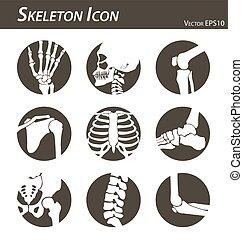 ikone, skelett