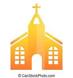 ikone, stil, kirche, orange, karikatur