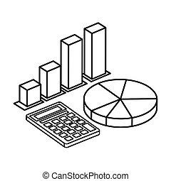 ikone, taschenrechner, freigestellt, infographics