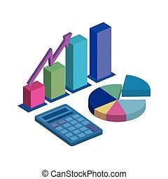 ikone, taschenrechner, freigestellt, statistik, grafik