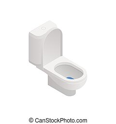 ikone, toilette, isometrisch