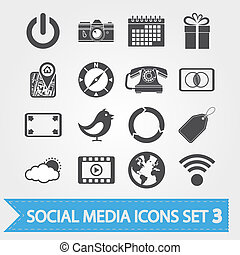 Ikonen der sozialen Medien sind auf 3