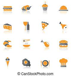 Ikonen für Lebensmittel - Teil 1.