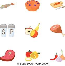 Ikonen für Lebensmittelzufuhr, Zeichentrickfilm