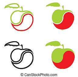 Ikonen in Form eines Apfels