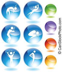 Illness-Kristall-Ikone-Set