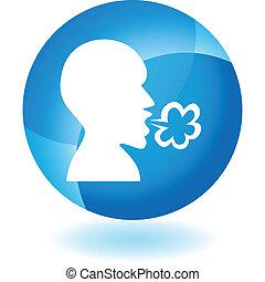 Illness transparente blaue Ikone