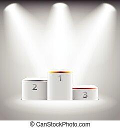 Illuminated stage podium für Gewinner Vektor.