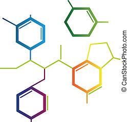 Illustration abstrakter chemischer Formeln