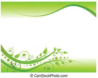 Illustration der Blumengrenze in Grün