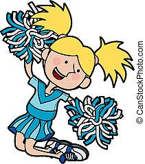 Illustration der Cheerleaderin