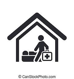 Illustration der einzelnen isolierten medizinischen Ikone