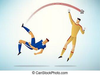 Illustration der Fußballspieler 09