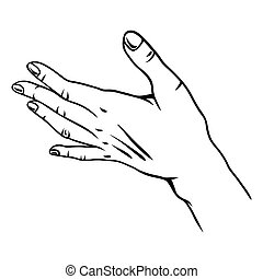 Illustration der menschlichen Hand.