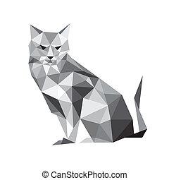 Illustration der Origami-Katze.