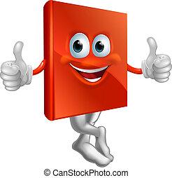 Illustration der roten Buchfigur