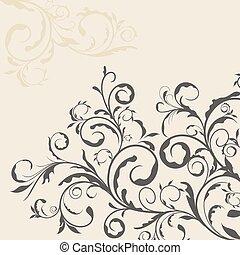 Illustration des Blumendeko-Elements für Design und Grenze