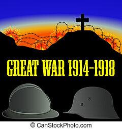 Illustration des ersten Weltkriegs (der große Krieg)