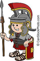 Illustration des römischen Soldaten