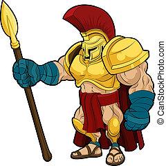 Illustration des spartanischen Gladiators