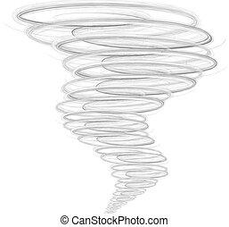 Illustration des Tornados