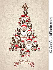 Illustration des Weihnachtsbaums