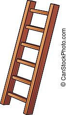 Illustration einer Holzleiter