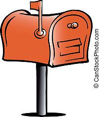 Illustration einer Mailbox.