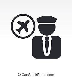 Illustration eines einzelnen Piloten