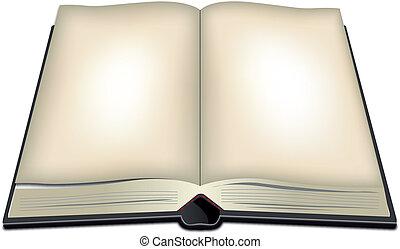 Illustration eines offenen Buches.
