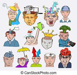 illustration., heiligenbilder, leute, kreativ, vektor, design, charaktere, begriffe