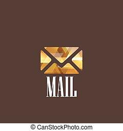 Illustration mit Diamantenpost-Ikone.