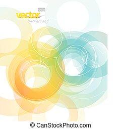 Illustration mit Kreisen abbrechen.